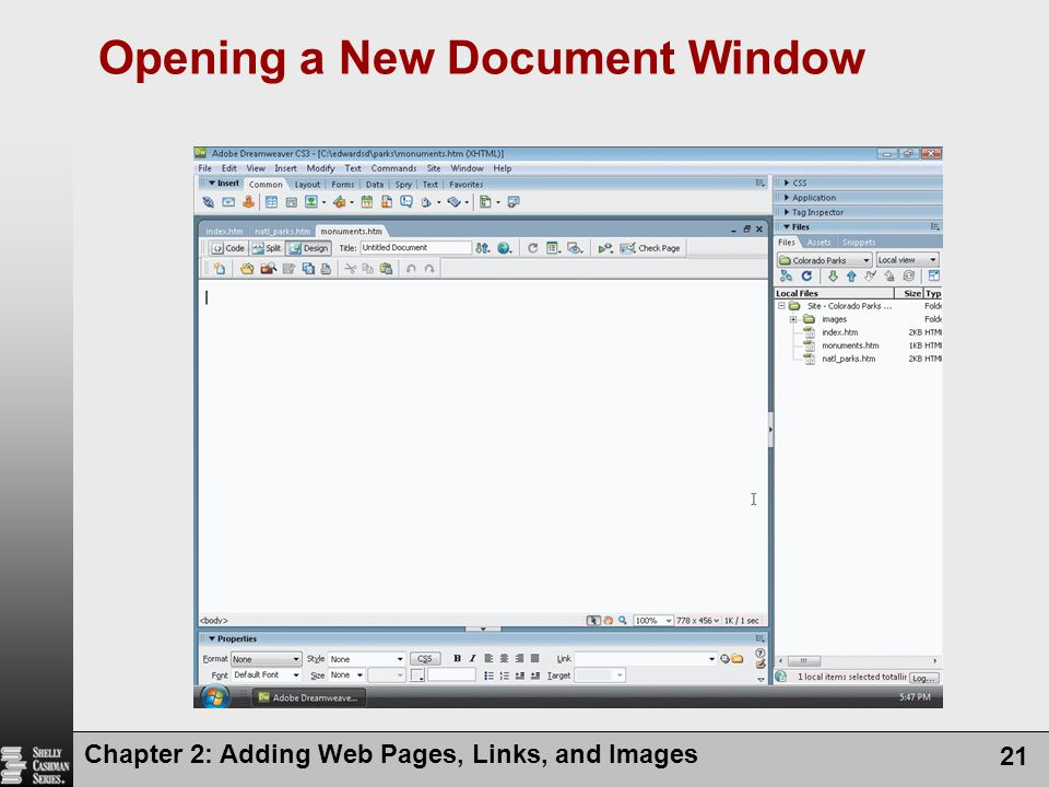 Opening a New Document Window
