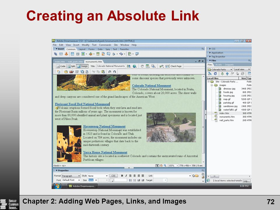 Creating an Absolute Link