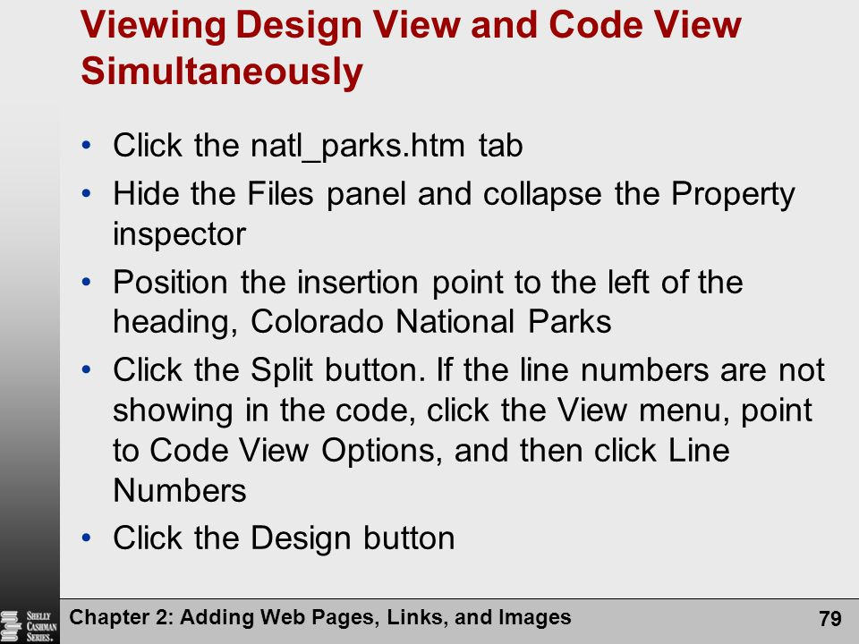 Viewing Design View and Code View Simultaneously