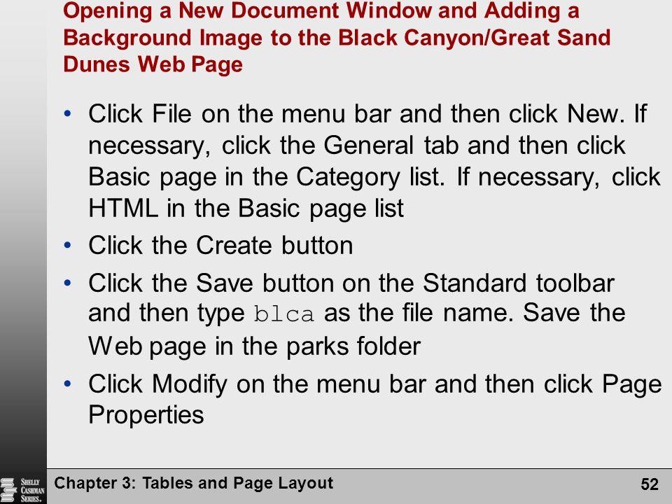 Click the Create button