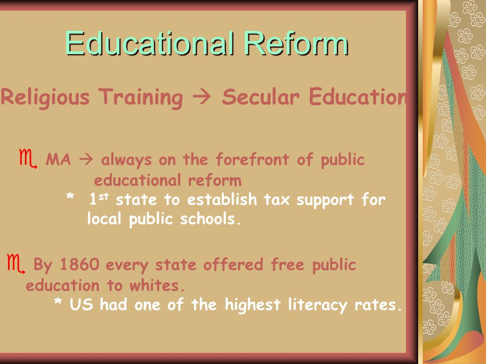 Religious Training  Secular Education