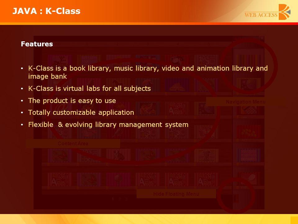 JAVA : K-Class Features