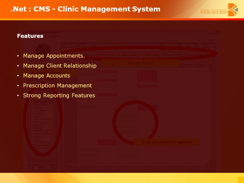 .Net : CMS - Clinic Management System