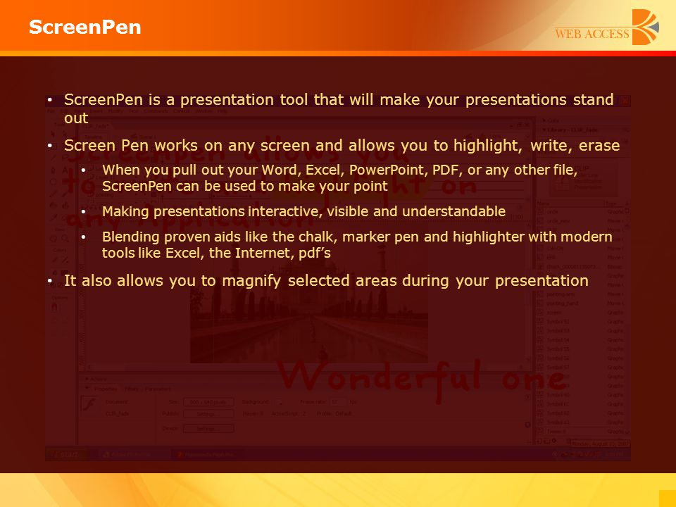 ScreenPen ScreenPen is a presentation tool that will make your presentations stand out.