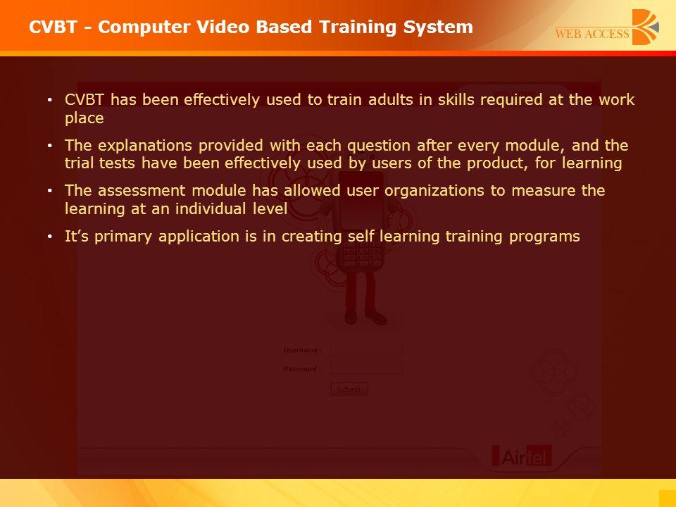 CVBT - Computer Video Based Training System