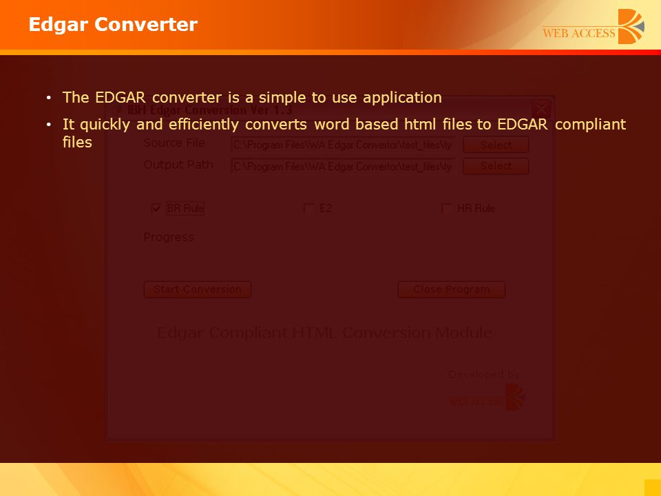 Edgar Converter The EDGAR converter is a simple to use application