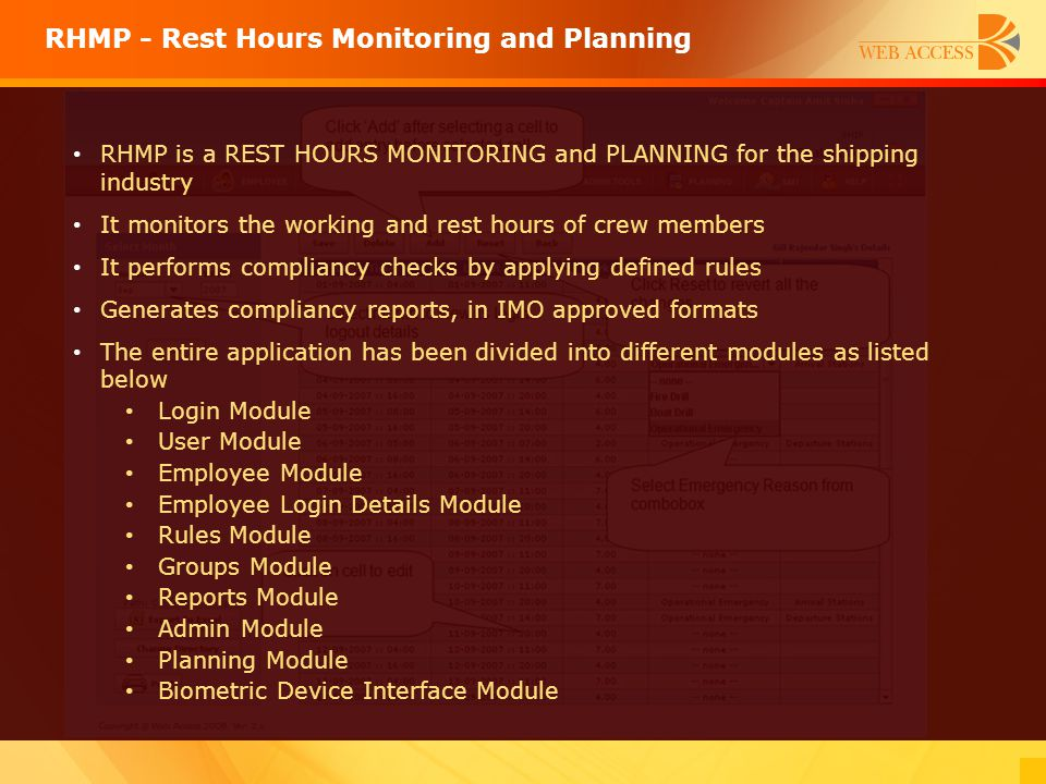 RHMP - Rest Hours Monitoring and Planning