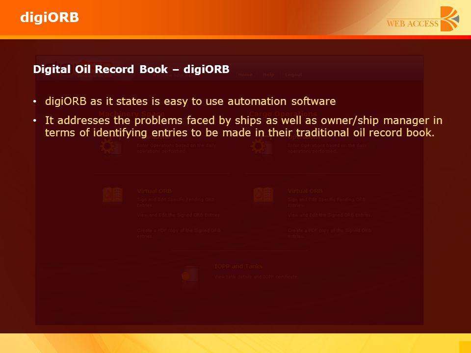 digiORB Digital Oil Record Book – digiORB