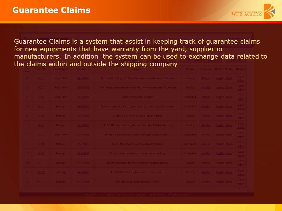 Guarantee Claims