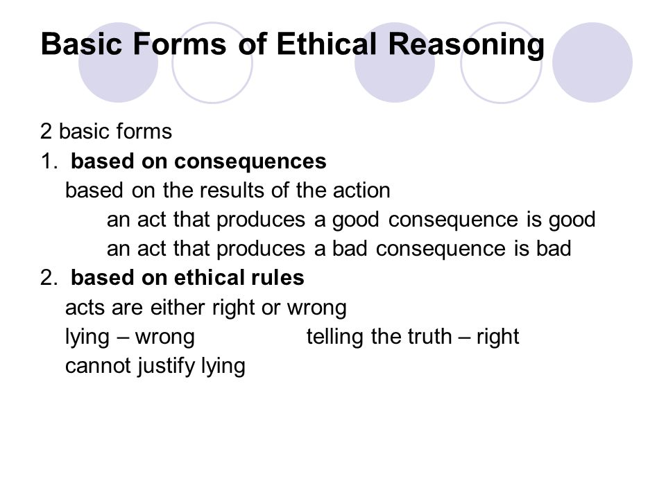 Basic Forms of Ethical Reasoning