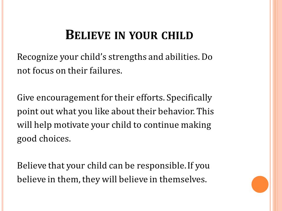 Believe in your child