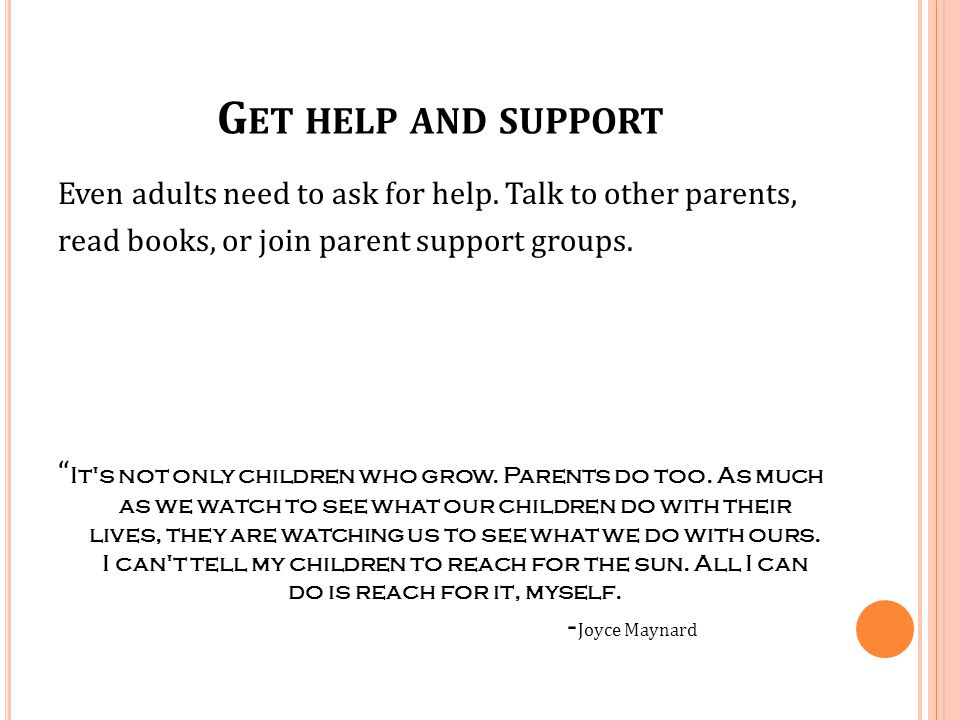 Get help and support