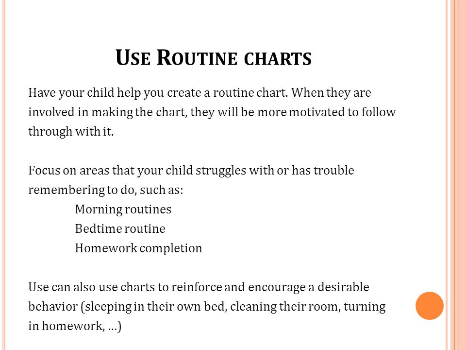 Use Routine charts