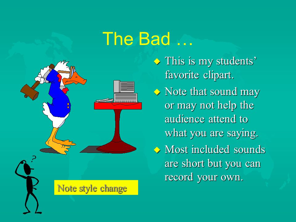 The Bad … This is my students' favorite clipart.