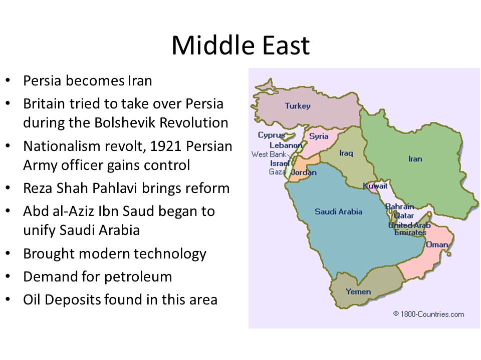 Middle East Persia becomes Iran