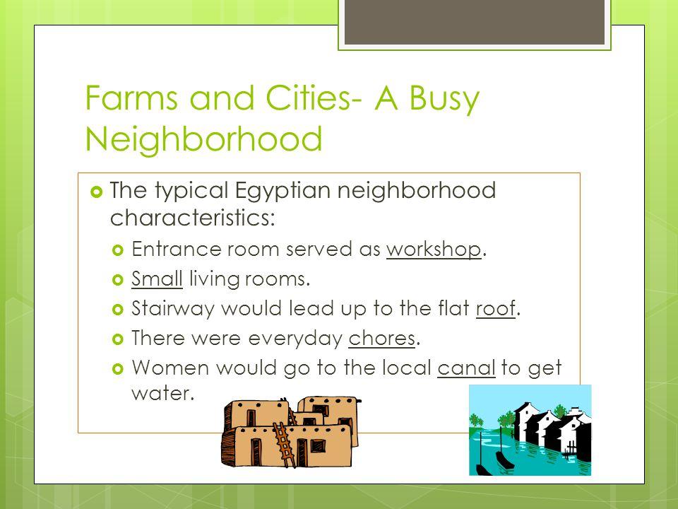 Farms and Cities- A Busy Neighborhood