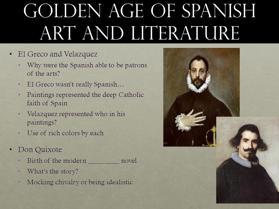 Golden age of Spanish art and literature