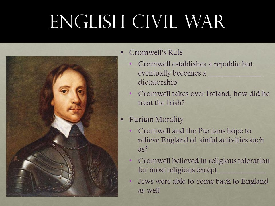 English Civil War Cromwell's Rule