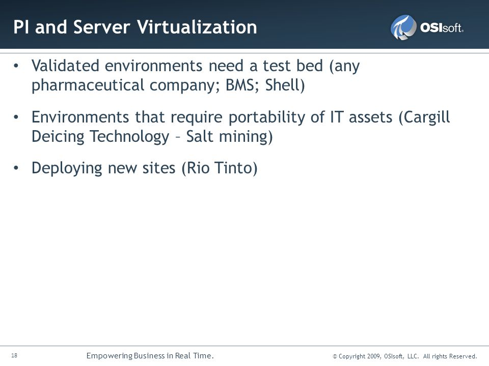PI and Server Virtualization