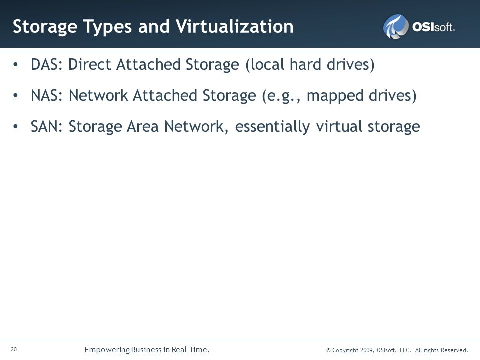 Storage Types and Virtualization