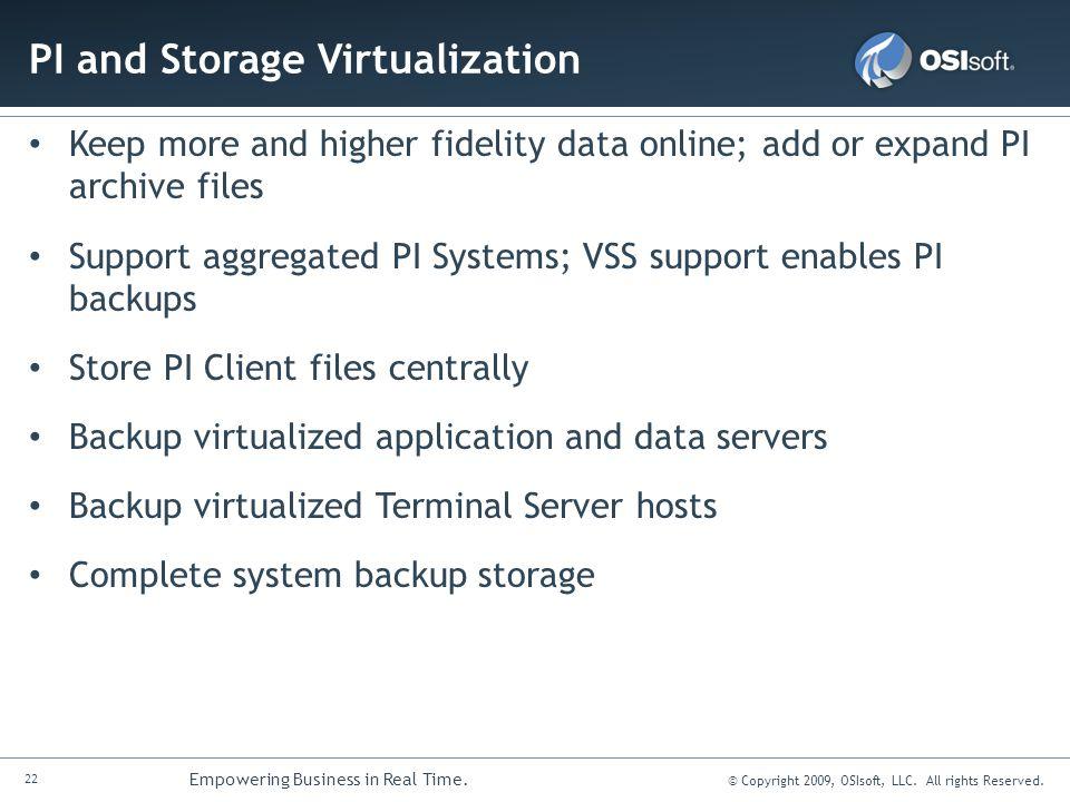 PI and Storage Virtualization