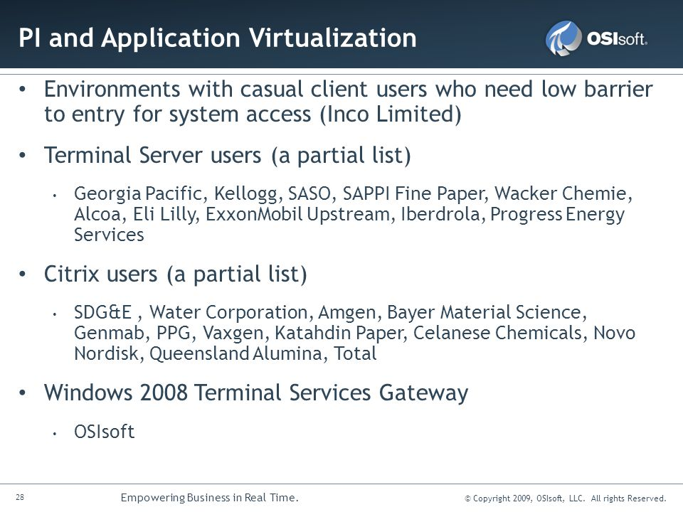 PI and Application Virtualization