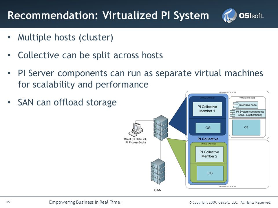 Recommendation: Virtualized PI System