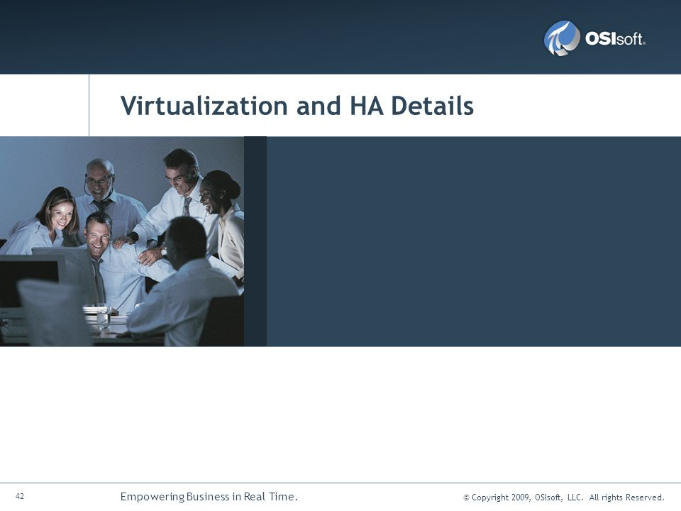 Virtualization and HA Details