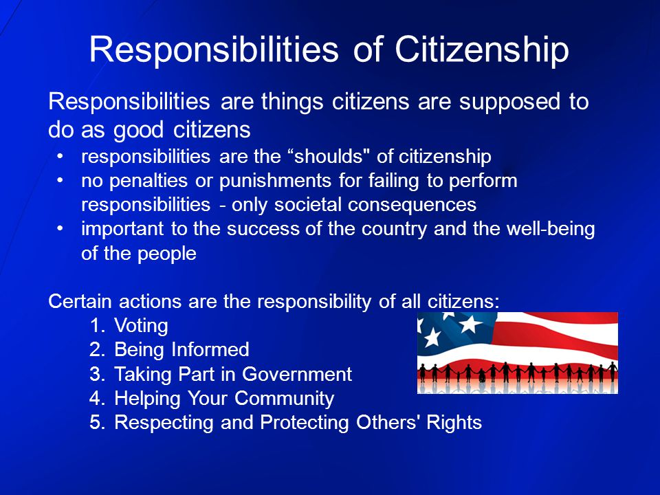 the responsibility of citizens to the success of texas united states