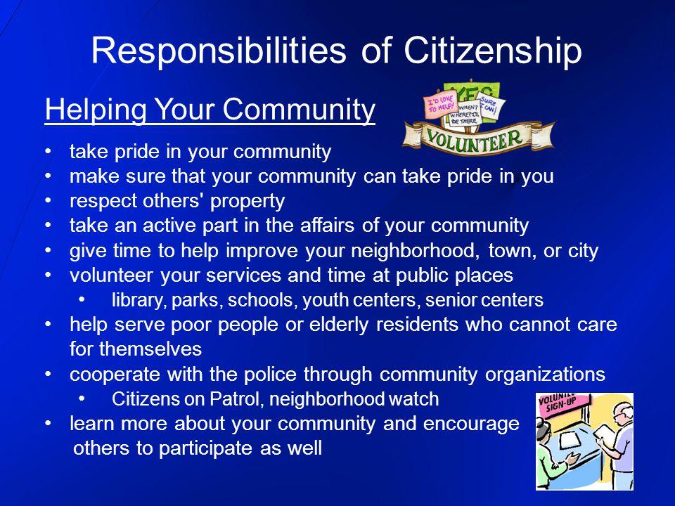 Responsibilities of Citizenship