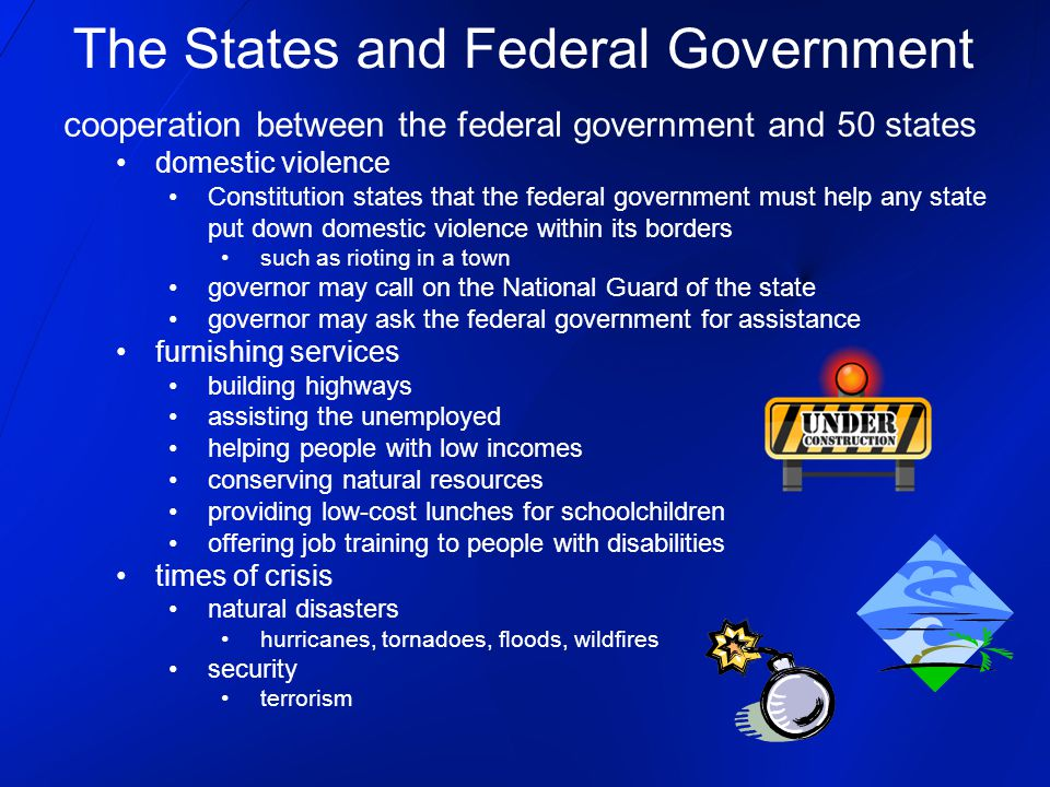 relationship between the federal government and state and local governments in the united states Of federal, state, and local governments of government in the united states under federalism the cooperative relationship between the.
