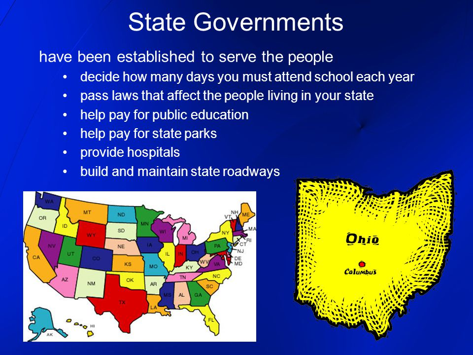 State Governments have been established to serve the people