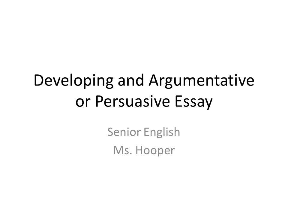 developing a thesis for a persuasive essay