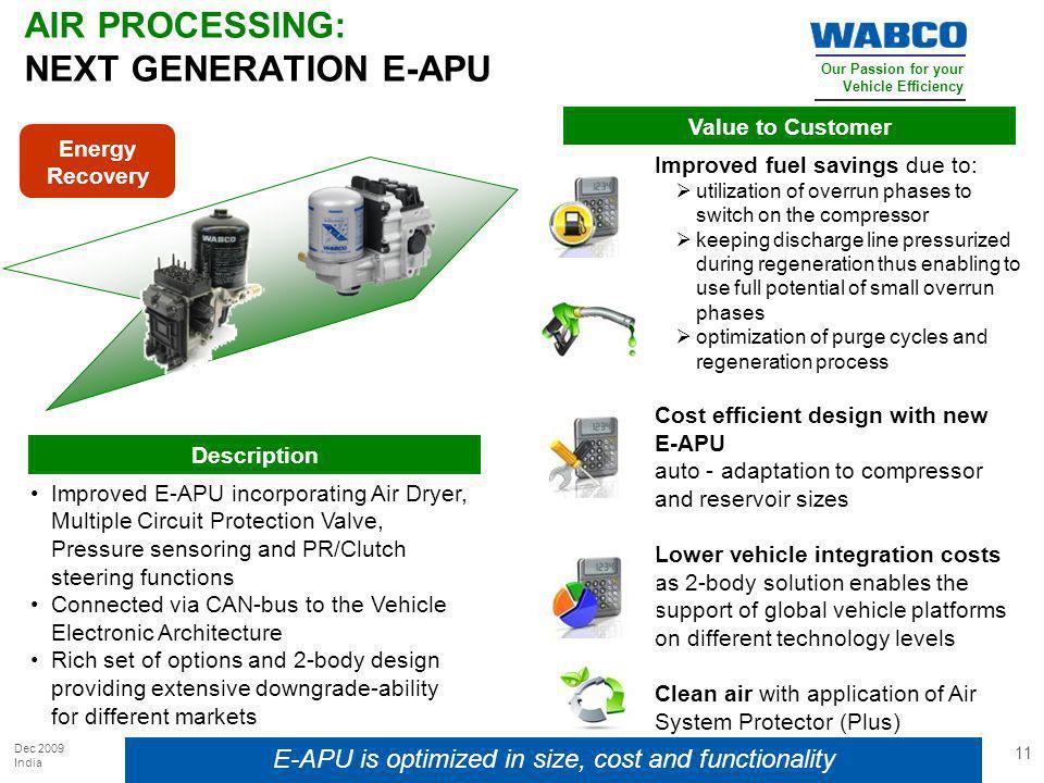 AIR PROCESSING: NEXT GENERATION E-APU
