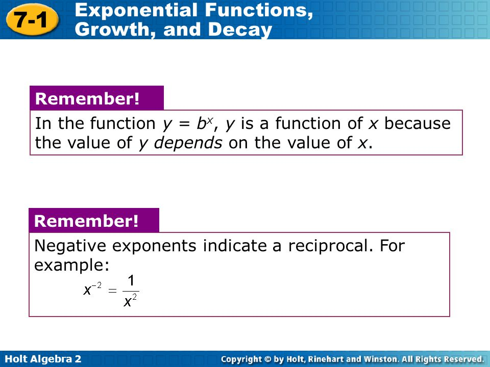 In the function y = bx, y is a function of x because the value of y depends on the value of x.