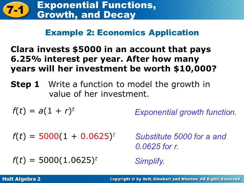 Example 2: Economics Application