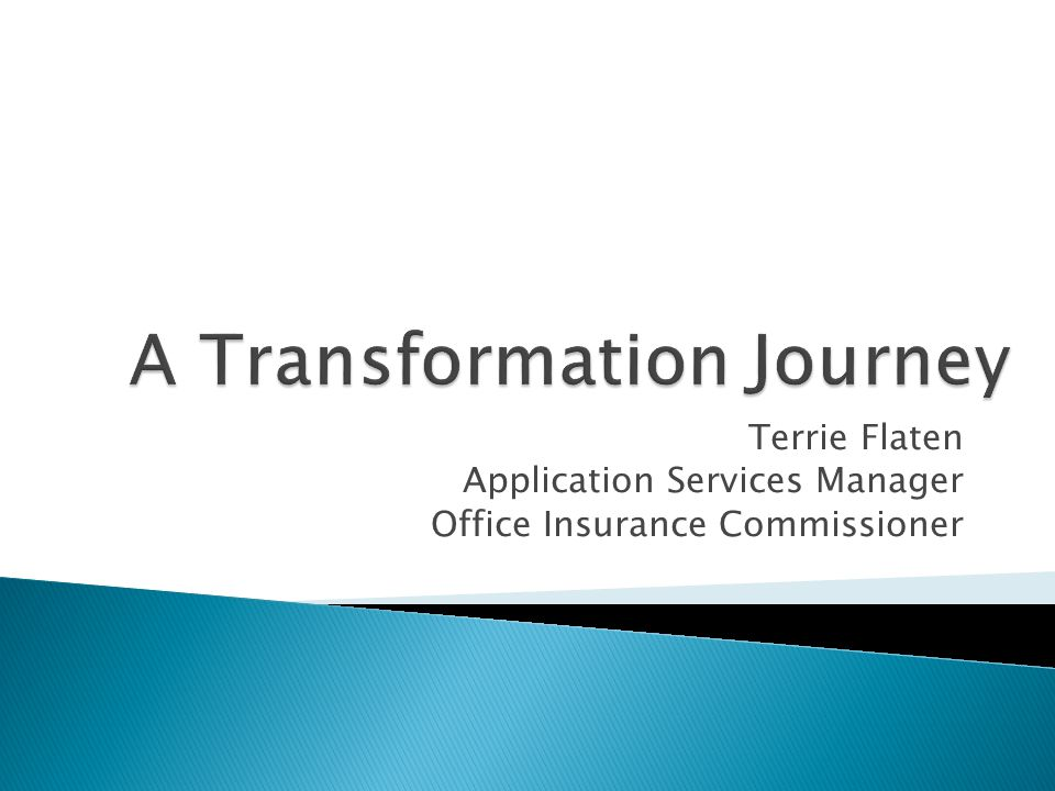 A Transformation Journey