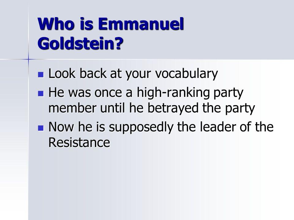 Who is Emmanuel Goldstein