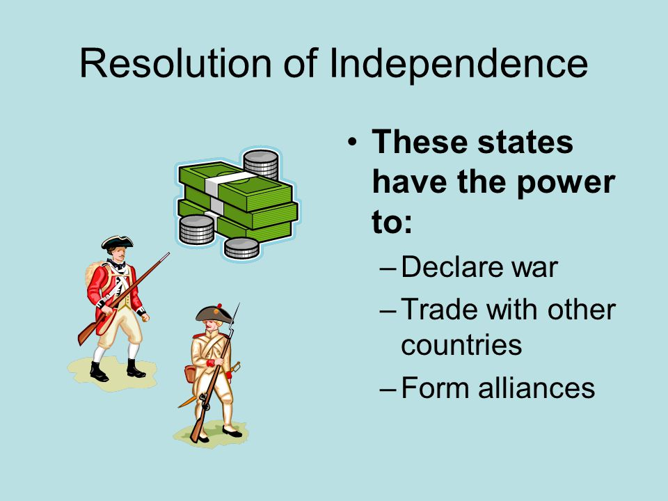 Resolution of Independence