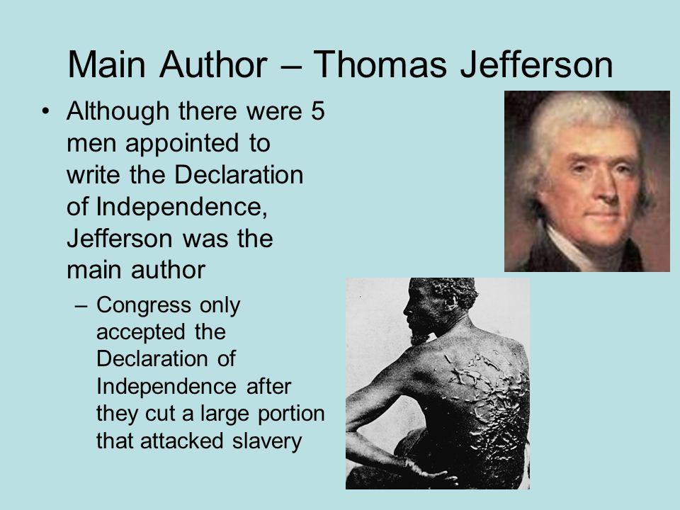 Main Author – Thomas Jefferson