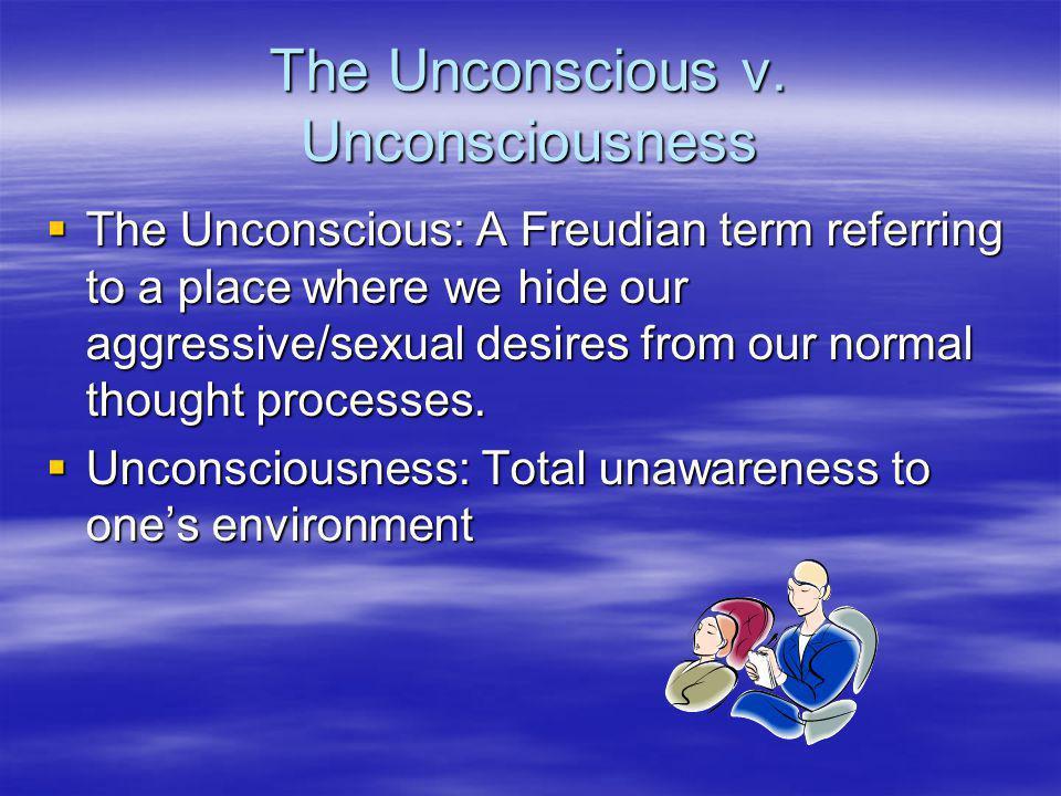 The Unconscious v. Unconsciousness