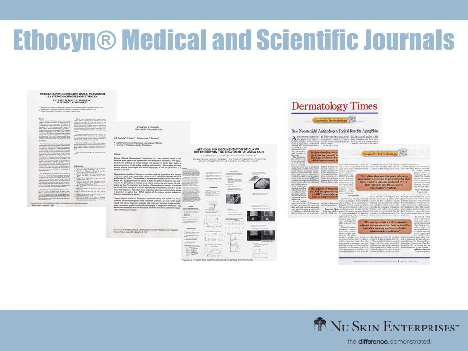 Ethocyn® Medical and Scientific Journals