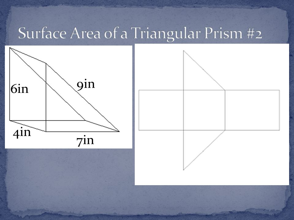 Surface Area of a Triangular Prism #2