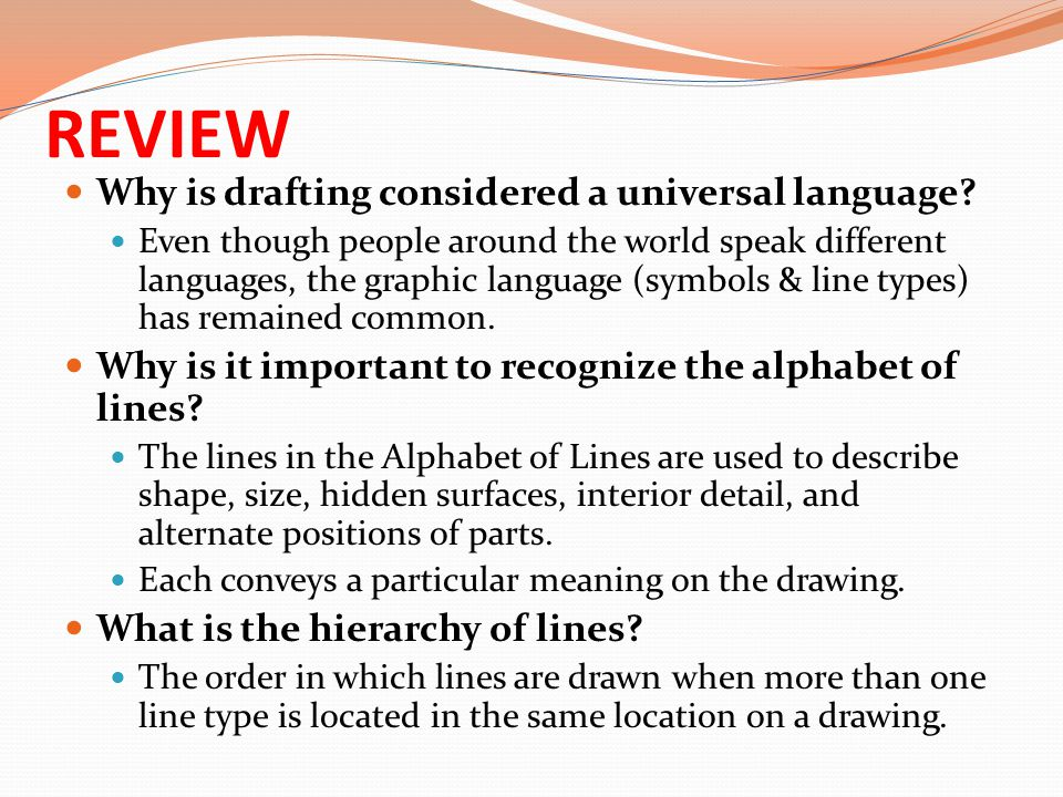 REVIEW Why is drafting considered a universal language