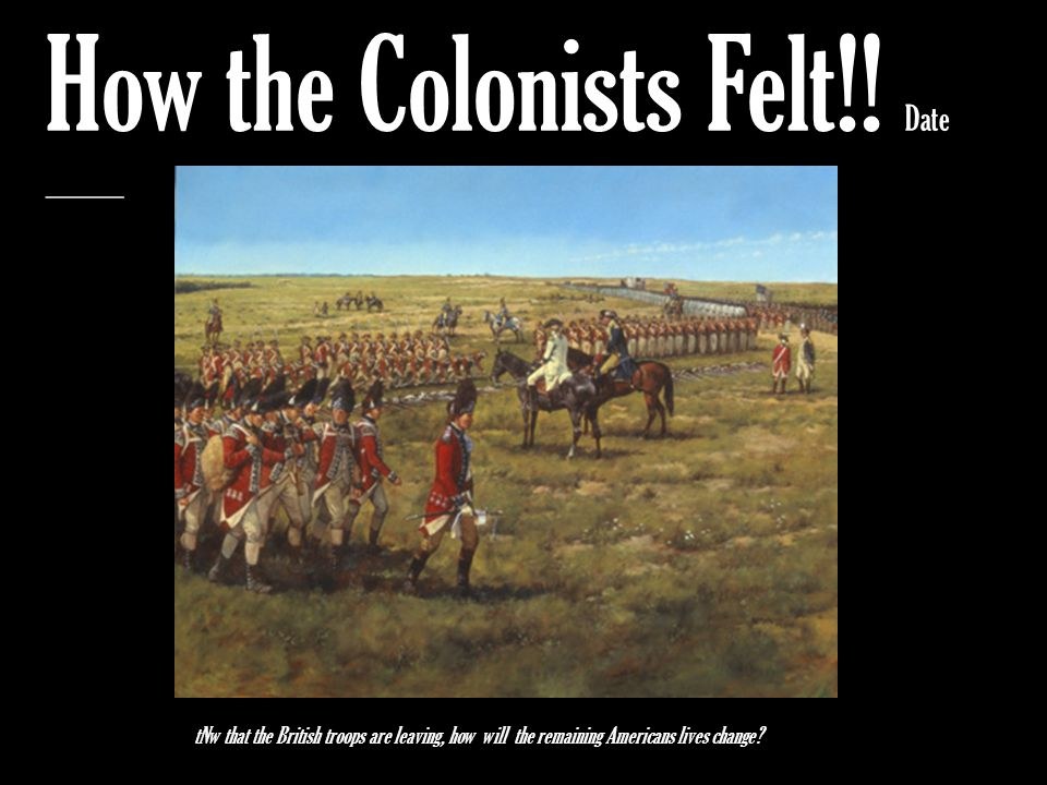 How the Colonists Felt!! Date _________