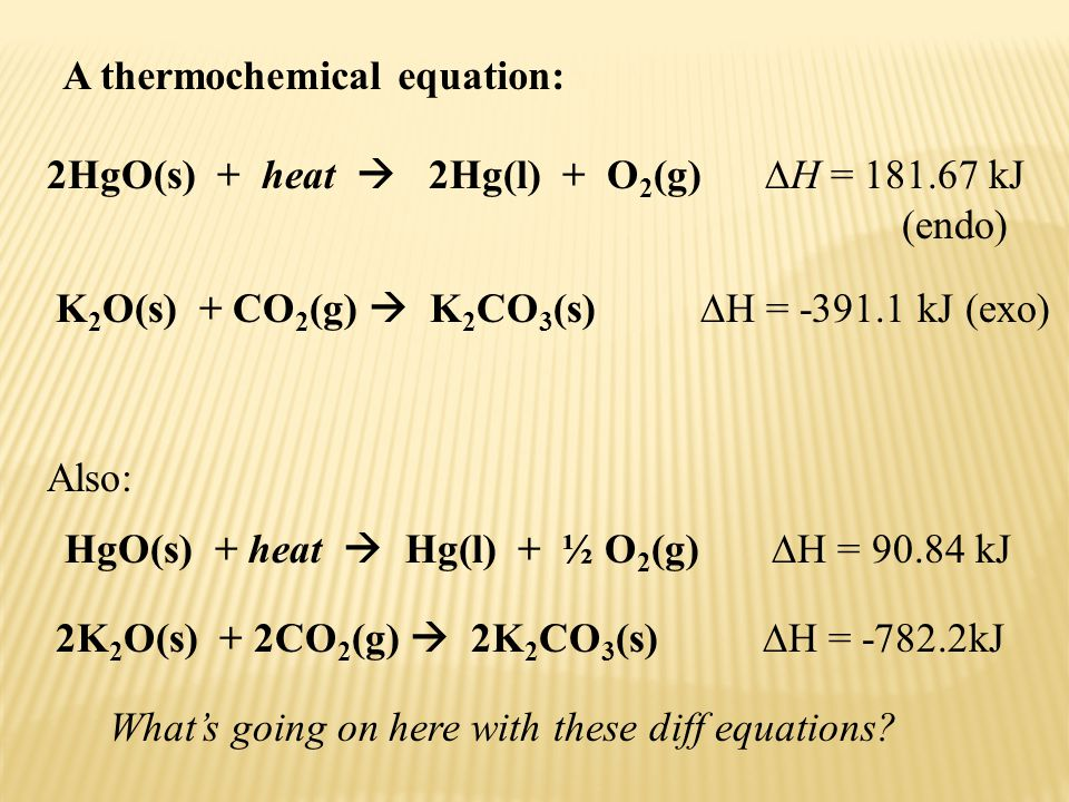 A thermochemical equation: