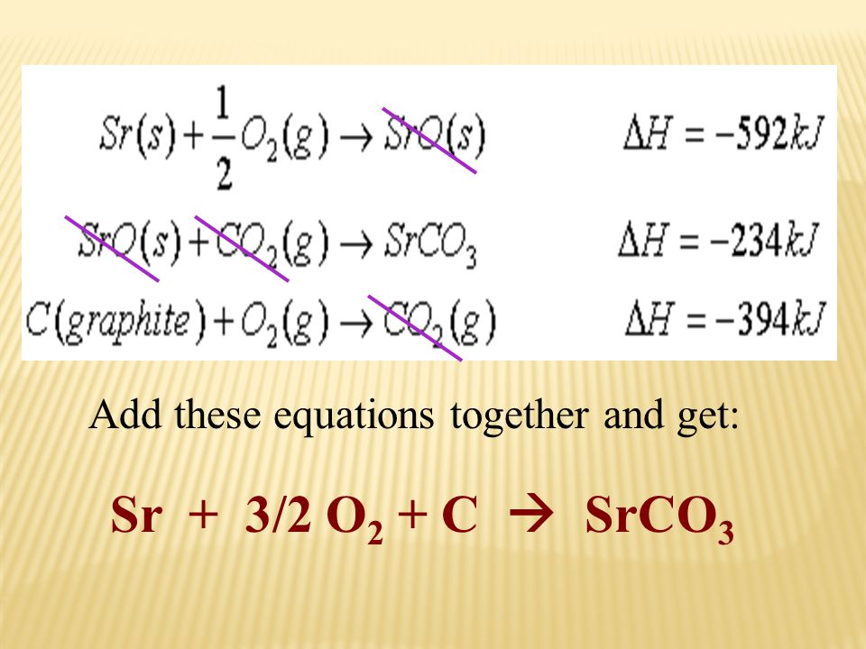 Add these equations together and get: