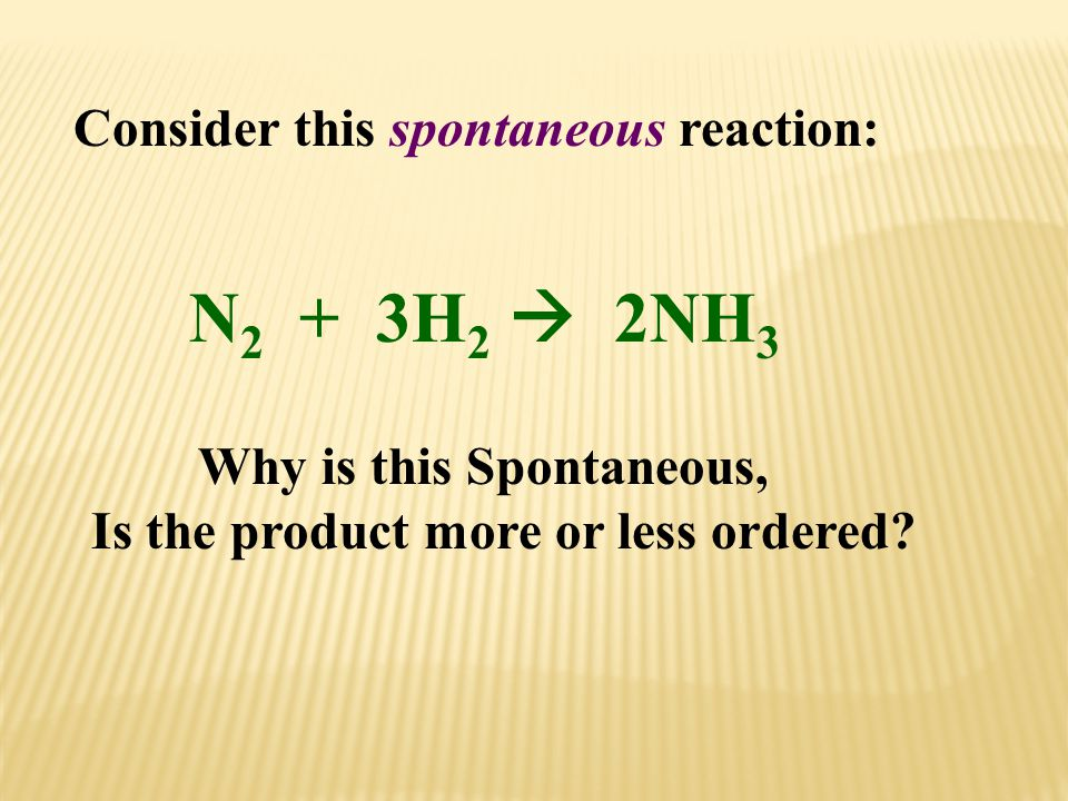 Consider this spontaneous reaction: