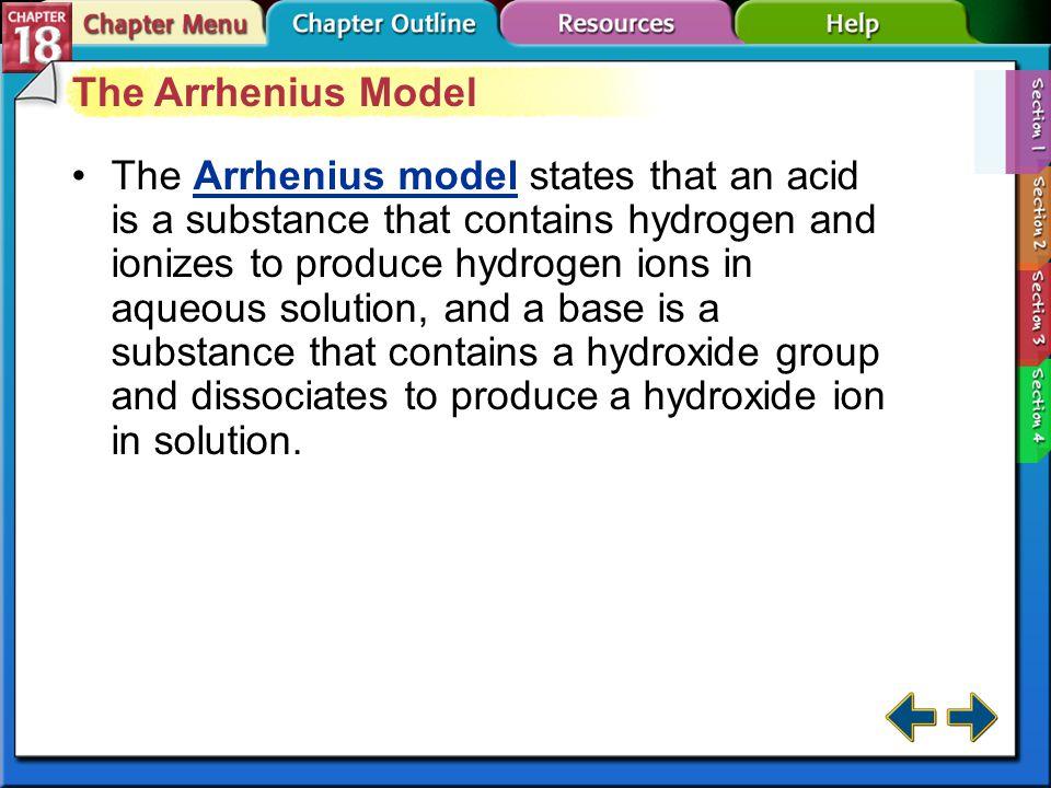 The Arrhenius Model