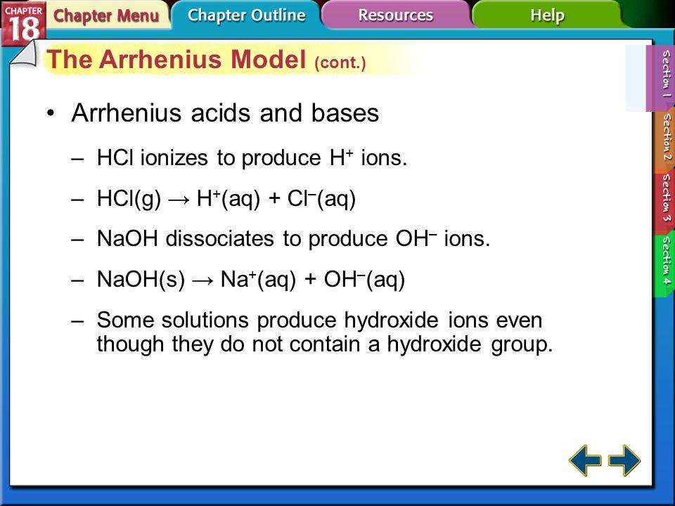 The Arrhenius Model (cont.)